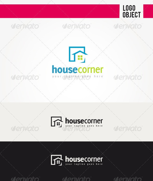 House Corner Logo - Objects Logo Templates