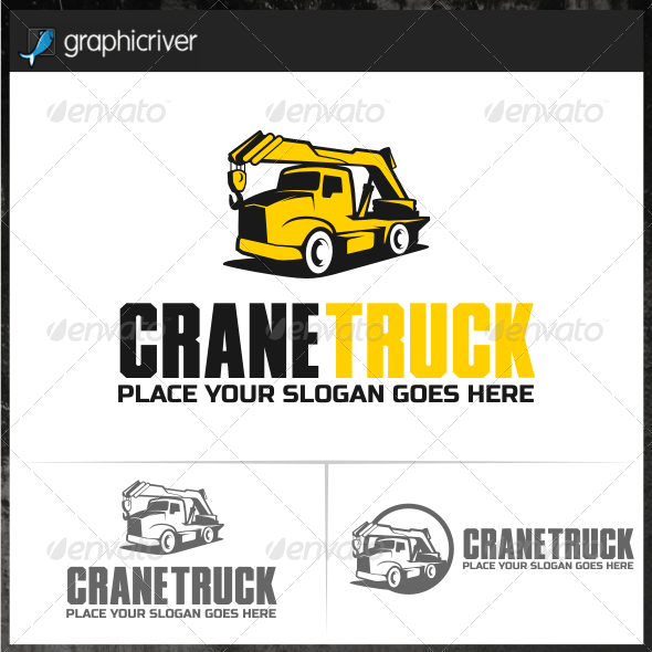 Crane Truck Logo Templates