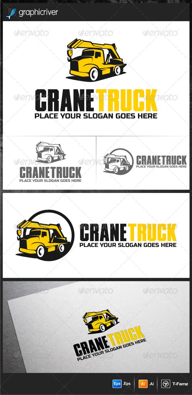 Crane Truck Logo Templates - Objects Logo Templates