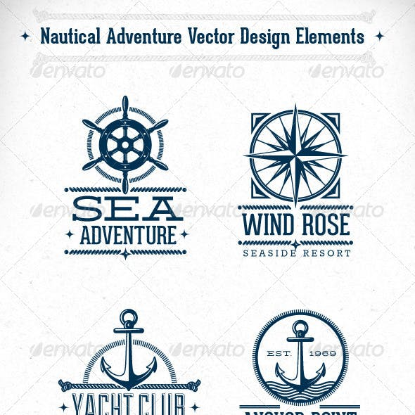 Nautical Adventure Vector Design Elements