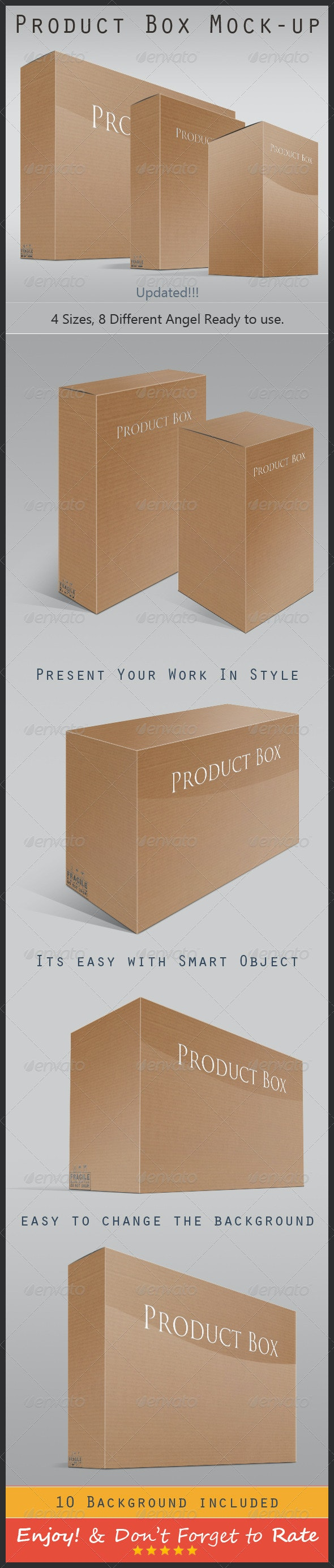 Product Box Mock-up - Packaging Product Mock-Ups