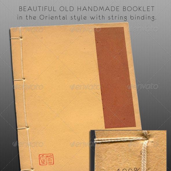 Old Oriental Handmade Paper Book