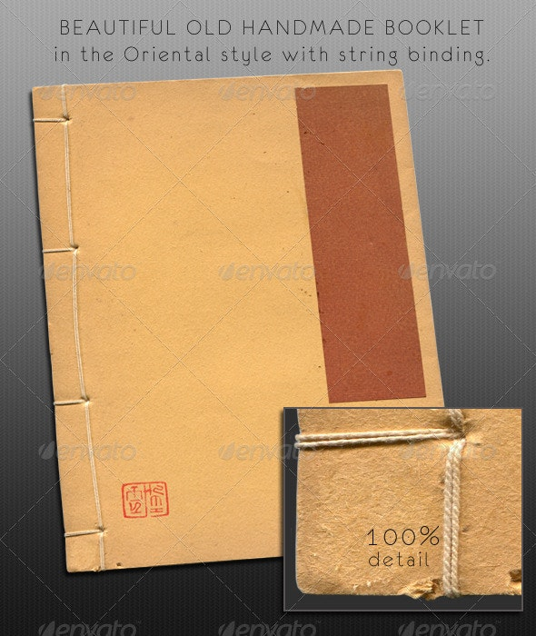 Old Oriental Handmade Paper Book - Miscellaneous Isolated Objects
