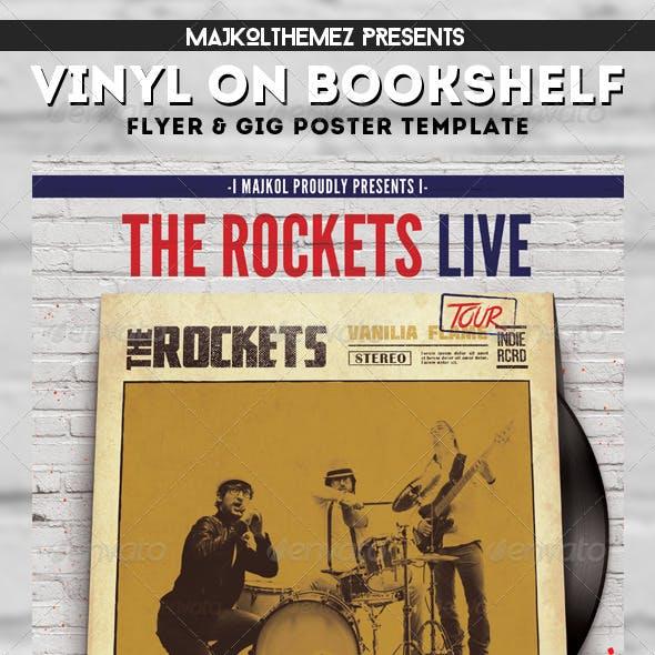 Vinyl on Bookshelf Gig Poster