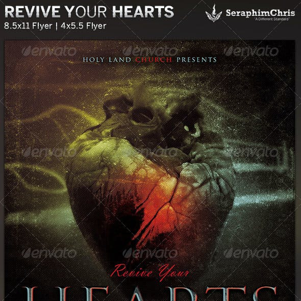 Revive Your Hearts: Church Flyer Template