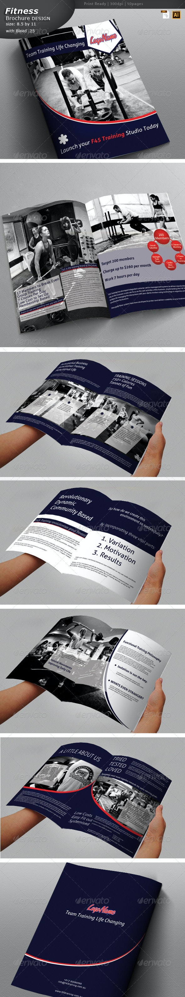 Fitness Training Brochure - Brochures Print Templates