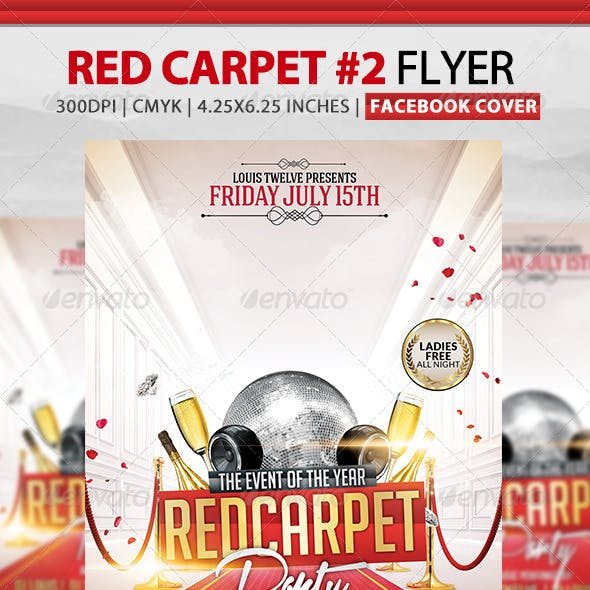 Red Carpet Party 2 | Flyer + Facebook Cover