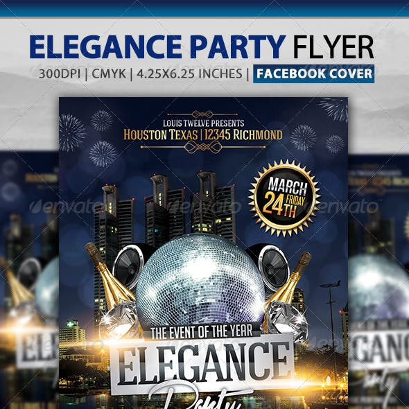 VIP Elegance Party | Flyer + Fb Cover