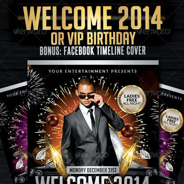 Welcome 2013 | Flyer Template + FB Cover