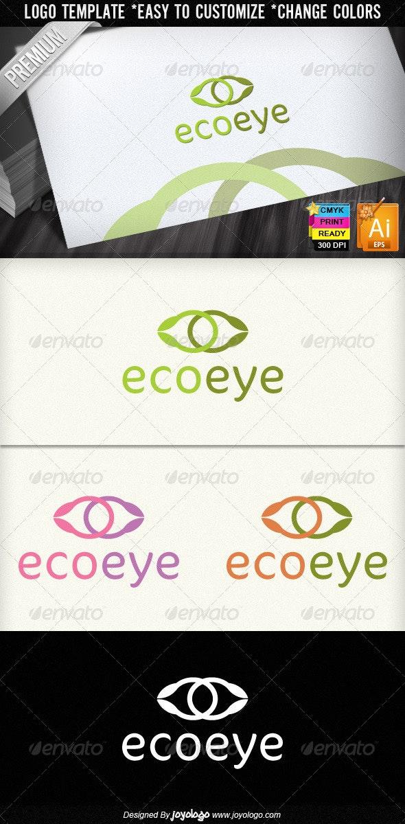Eco Eye Leaf Ecology Organic Logo Design - Nature Logo Templates
