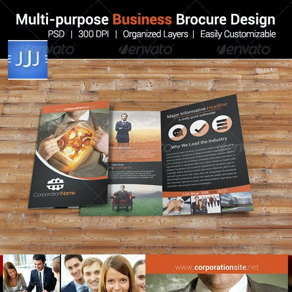 Multipurpose Business Bifold Brochure 9