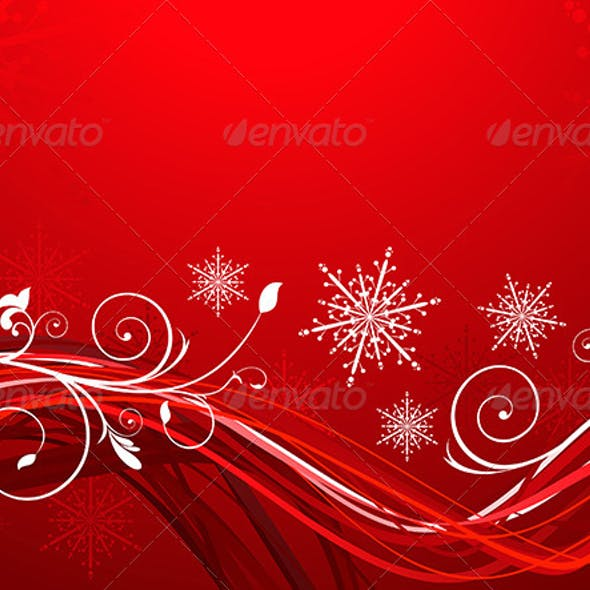 Abstract Red Shiny Christmas Background