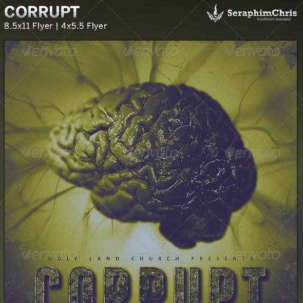 Corrupt: Church Flyer Template