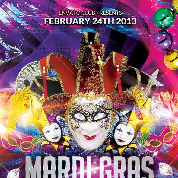 Mardi Gras or Masquerade Party + Fb Cover