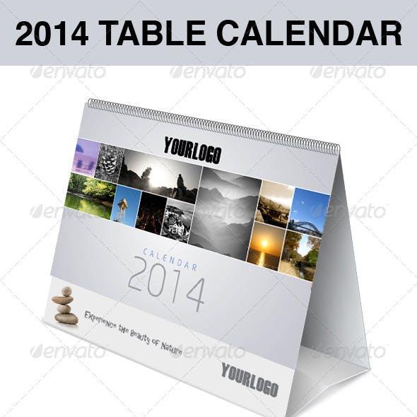 2014 table calendar