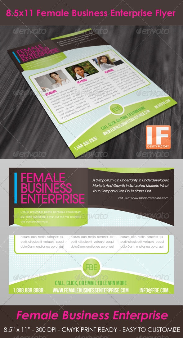 Female Business Flyer  - Corporate Flyers
