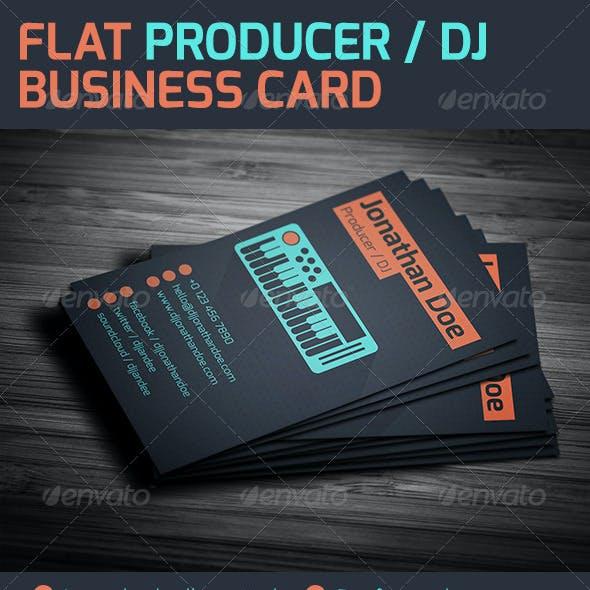 Flat Producer / DJ Business Card