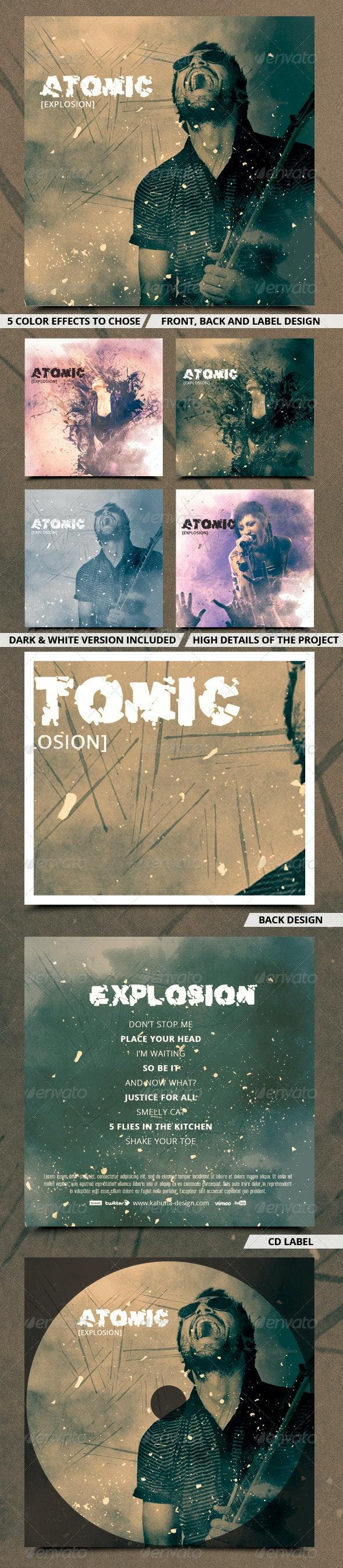 Rock CD & DVD Artwork Design - CD & DVD Artwork Print Templates