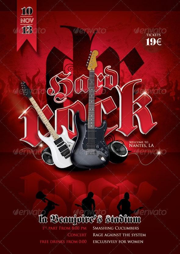 Flyer Hard Rock Concert - Concerts Events
