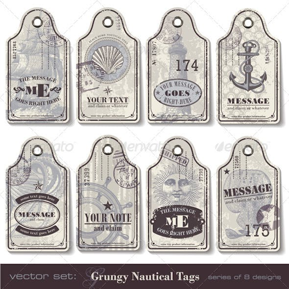 Grungy Nautical Tags