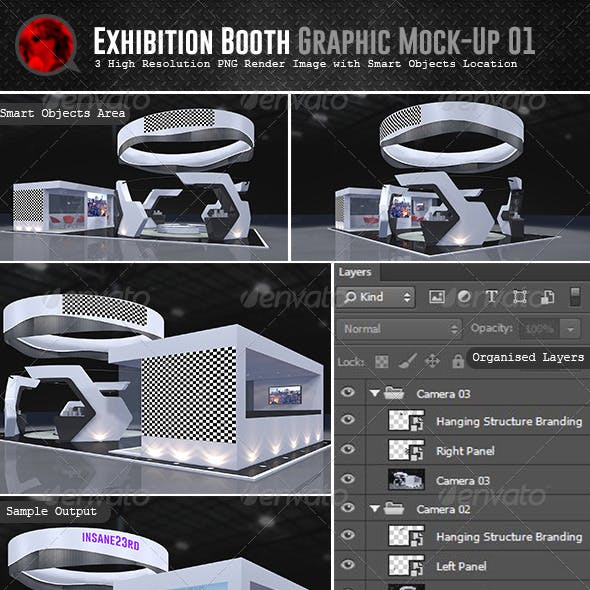 Exhibition Booth Graphic Mock-Up 01