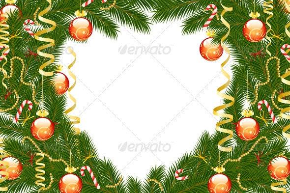 Christmas Fir Tree Frame - Christmas Seasons/Holidays