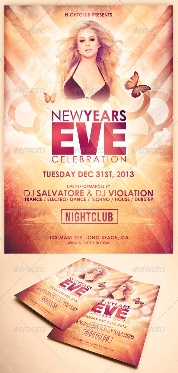 Glamorous New Years Eve Flyer - Clubs & Parties Events