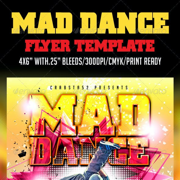 Mad Dance Flyer Template