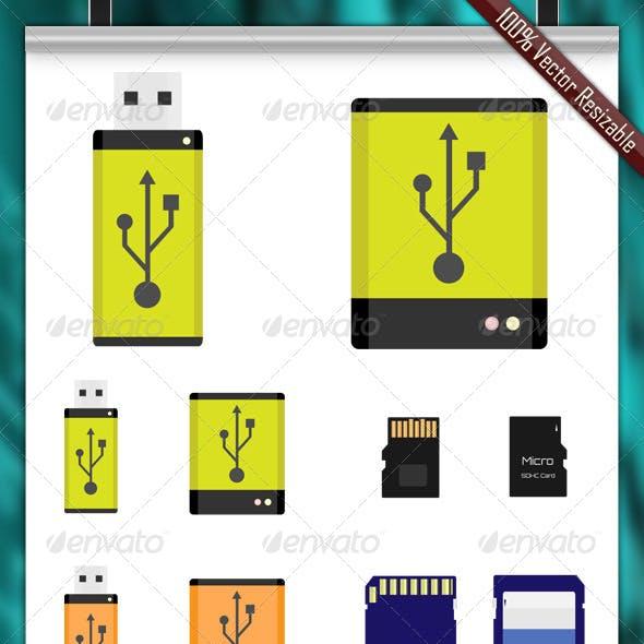 Storage Vector Icons
