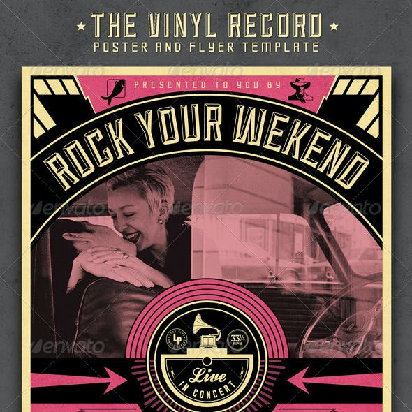 The Vinyl Record Poster and Flyer Template