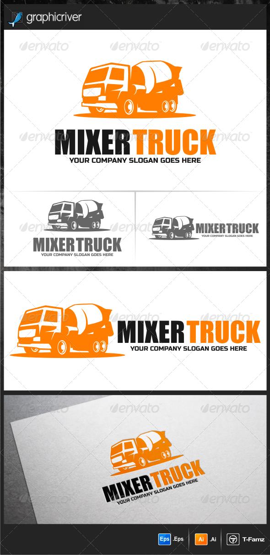 Mixer Truck Logo Templates - Objects Logo Templates
