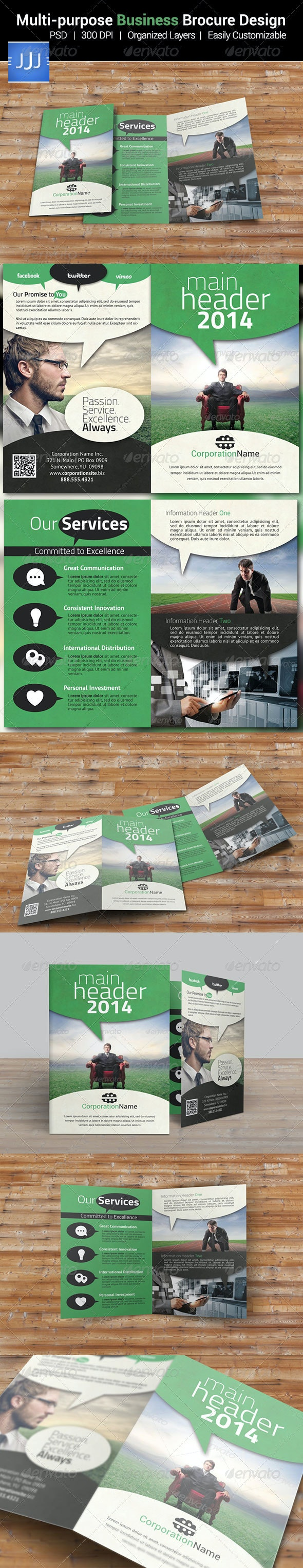 Multipurpose Business Bifold Brochure 10 - Corporate Brochures