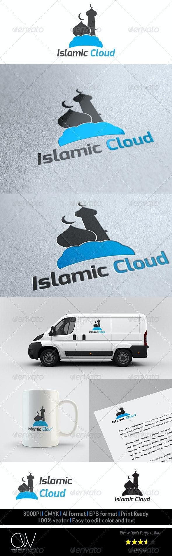 Islamic Cloud Logo Template - Vector Abstract