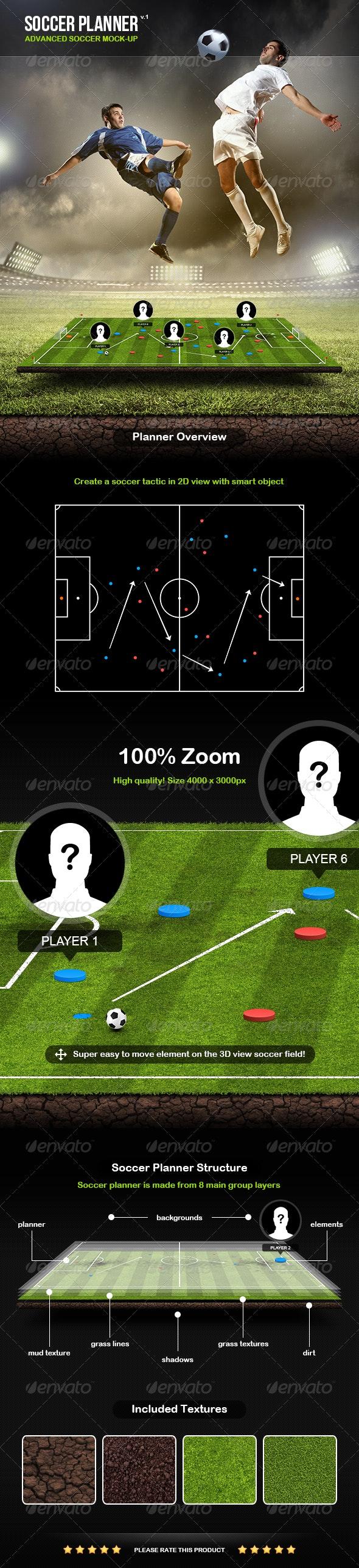 Soccer Planner - Scenes Illustrations