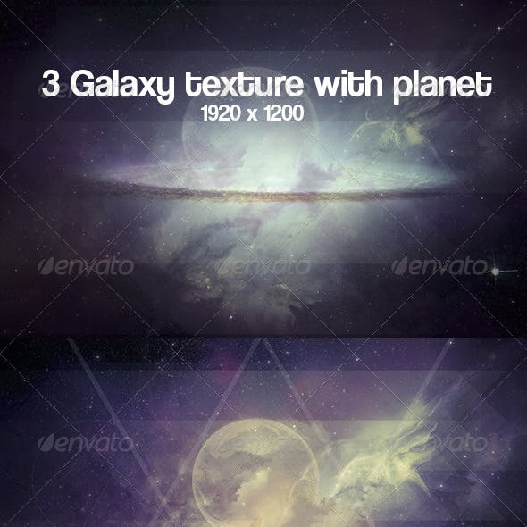 3 Galaxy and planet texture