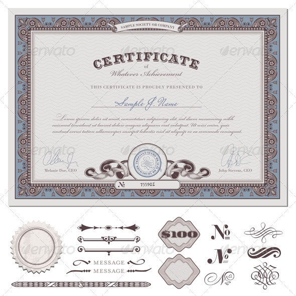 Certificate Template (1) - Backgrounds Decorative