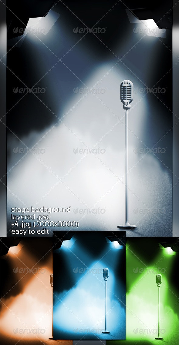 Stage Background - 3D Backgrounds
