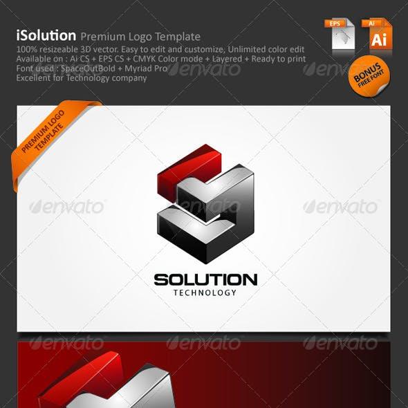 3D Vector Abstract Logo-001