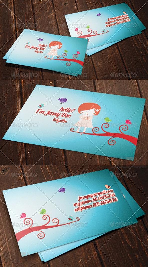 Dream Girl Business Card - Creative Business Cards