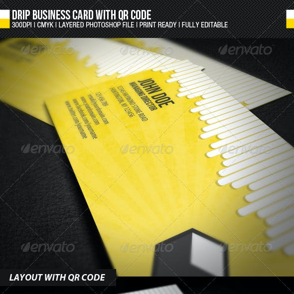 Drip Business Card With QR Code