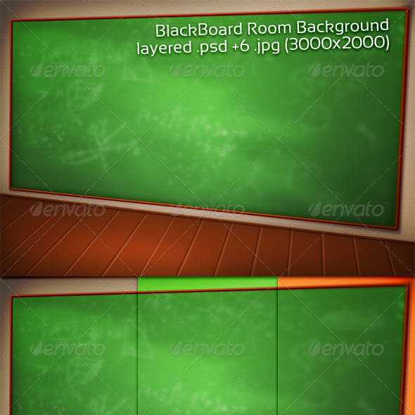 BlackBoard Room Background