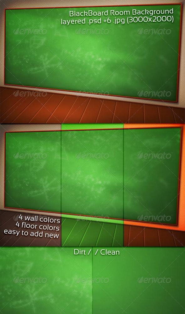 BlackBoard Room Background - 3D Backgrounds