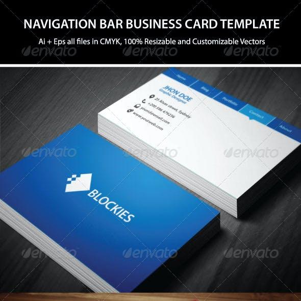 Navigation Bar Business Card Template