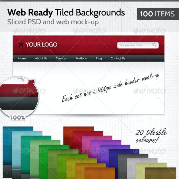 100 Web Ready Tiled Backgrounds
