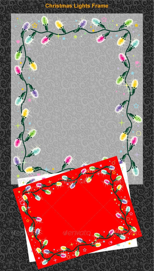 Christmas Lights Frame - Christmas Seasons/Holidays
