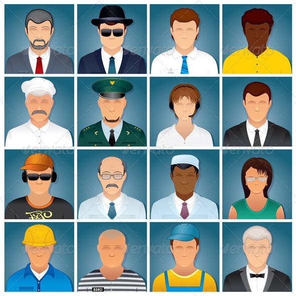 Business People Icons. Vector Collection