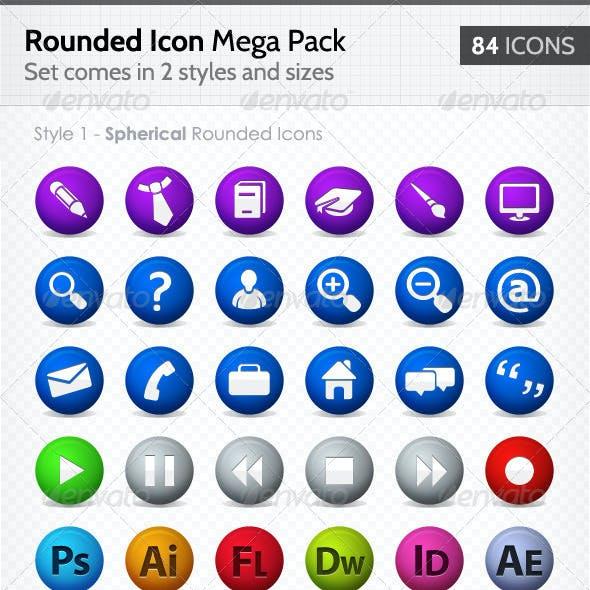 Rounded Web Icons - Mega Pack