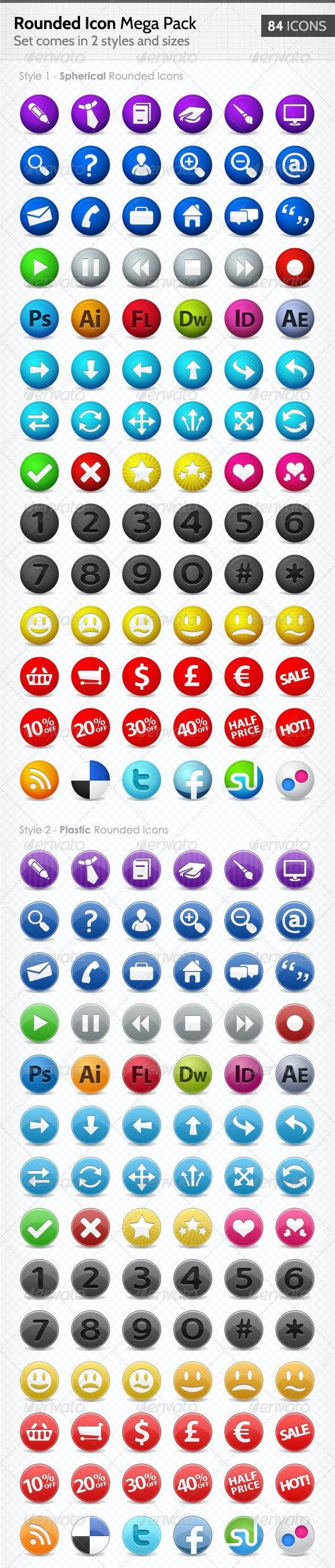 Rounded Web Icons - Mega Pack - Web Icons