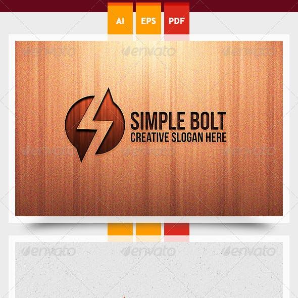 Simple Bolt Logo Template