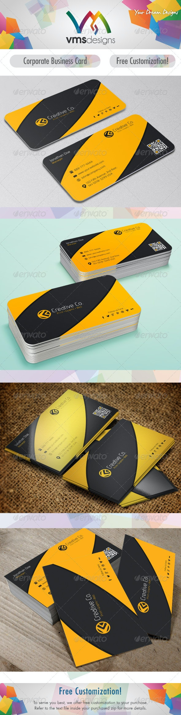 Textured Corporate Business Card - Corporate Business Cards